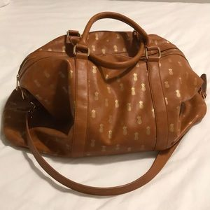 Sole Society Bags - Nordstrom Gold Pineapple Duffel Bag 97aa0312d7601